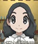 サンムーン女主人公の髪型ミディアムパーマ・色ブラック(前髪すっきり)
