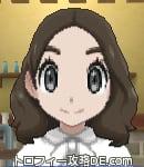 サンムーン女主人公の髪型ミディアムパーマ・色ダークブラウン(前髪すっきり)