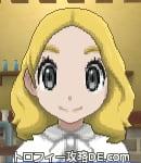 サンムーン女主人公の髪型ミディアムパーマ・色ゴールド(前髪すっきり)