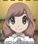 サンムーン女主人公の髪型ミディアムパーマ・色ピンクラブラウン(前髪おろして)