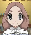 サンムーン女主人公の髪型ミディアムパーマ・色ピンクブラウン(前髪すっきり)