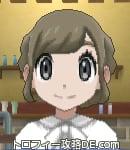 サンムーン女主人公の髪型ギブソンタック・色アッシュブラウン(前髪おろして)