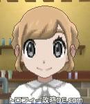 サンムーン女主人公の髪型ギブソンタック・色ライトベージュ(前髪おろして)