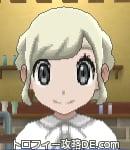 サンムーン女主人公の髪型ギブソンタック・色プラチナブロンド(前髪おろして)