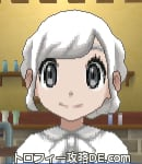サンムーン女主人公の髪型ギブソンタック・色ホワイト(前髪おろして)