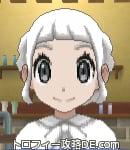 サンムーン女主人公の髪型ギブソンタック・色ホワイト(前髪ぱっつん)