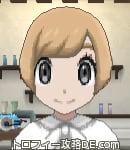 サンムーン女主人公の髪型ショート・色ライトベージュ(前髪おろして)
