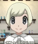 サンムーン女主人公の髪型ショート・色プラチナブロンド(前髪おろして)