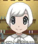 サンムーン女主人公の髪型ショート・色ホワイト(前髪おろして)