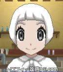 サンムーン女主人公の髪型ショート・色ホワイト(前髪ぱっつん)