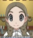 サンムーン女主人公の髪型リゾートツインテール・色アッシュブラウン(前髪すっきり)