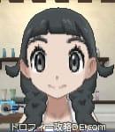 サンムーン女主人公の髪型リゾートツインテール・色ブラック(前髪ぱっつん)