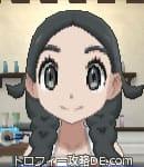 サンムーン女主人公の髪型リゾートツインテール・色ブラック(前髪すっきり)