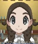 サンムーン女主人公の髪型リゾートツインテール・色ダークブラウン(前髪すっきり)