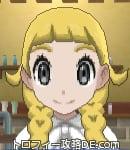 サンムーン女主人公の髪型リゾートツインテール・色ゴールド(前髪ぱっつん)