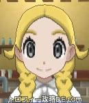 サンムーン女主人公の髪型リゾートツインテール・色ゴールド(前髪すっきり)