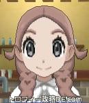 サンムーン女主人公の髪型リゾートツインテール・色ピンクブラウン(前髪すっきり)