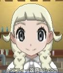 サンムーン女主人公の髪型リゾートツインテール・色プラチナブロンド(前髪ぱっつん)