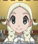 サンムーン女主人公の髪型リゾートツインテール・色プラチナブロンド(前髪すっきり)