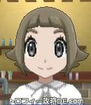 サンムーン女主人公の髪型スプラッシュカール・色アッシュブラウン(前髪ぱっつん)