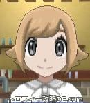 サンムーン女主人公の髪型スプラッシュカール・色ライトベージュ(前髪おろして)