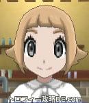 サンムーン女主人公の髪型スプラッシュカール・色ライトベージュ(前髪ぱっつん)