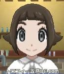 サンムーン女主人公の髪型スプラッシュカール・色ダークブラウン(前髪ぱっつん)