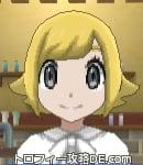 サンムーン女主人公の髪型スプラッシュカール・色ゴールド(前髪おろして)