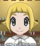 サンムーン女主人公の髪型スプラッシュカール・色ゴールド(前髪ぱっつん)