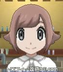 サンムーン女主人公の髪型スプラッシュカール・色ピンクラブラウン(前髪おろして)