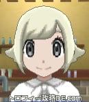 サンムーン女主人公の髪型スプラッシュカール・色プラチナブロンド(前髪おろして)
