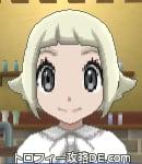 サンムーン女主人公の髪型スプラッシュカール・色プラチナブロンド(前髪ぱっつん)
