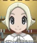 サンムーン女主人公の髪型スプラッシュカール・色プラチナブロンド(前髪すっきり)