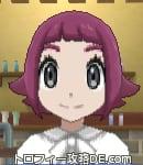 サンムーン女主人公の髪型スプラッシュカール・色レッド(前髪ぱっつん)