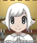 サンムーン女主人公の髪型スプラッシュカール・色ホワイト(前髪おろして)