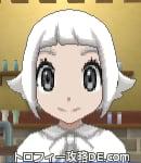 サンムーン女主人公の髪型スプラッシュカール・色ホワイト(前髪ぱっつん)