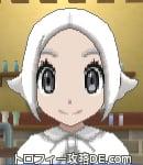 サンムーン女主人公の髪型スプラッシュカール・色ホワイト(前髪すっきり)