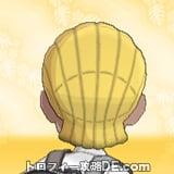 サンムーン男主人公の髪型ブレイズ・髪色ゴールドの後ろ姿