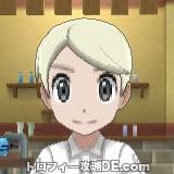 サンムーン男主人公の髪型ミディアムストレート・髪色プラチナブロンド