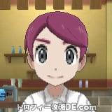サンムーン男主人公の髪型ミディアムストレート・髪色レッド