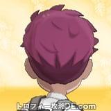 サンムーン男主人公の髪型ソフトリーゼント・髪色レッドの後ろ姿