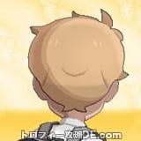 サンムーン男主人公の髪型ナチュラル・髪色ライトベージュの後ろ姿