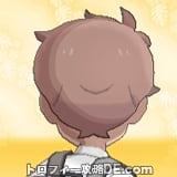 サンムーン男主人公の髪型ナチュラル・髪色ピンクブラウンの後ろ姿