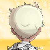 サンムーン男主人公の髪型ナチュラル・髪色プラチナブロンドの後ろ姿