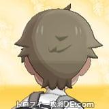 サンムーン男主人公の髪型ショート・髪色アッシュブラウンの後ろ姿