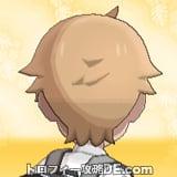 サンムーン男主人公の髪型ショート・髪色ライトベージュの後ろ姿