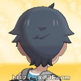 サンムーン男主人公の髪型ショート・髪色ブラックの後ろ姿