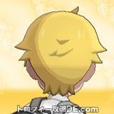 サンムーン男主人公の髪型ショート・髪色ゴールドの後ろ姿