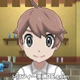 サンムーン男主人公の髪型ショート・髪色ピンクブラウン
