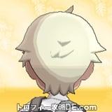 サンムーン男主人公の髪型ショート・髪色プラチナブロンドの後ろ姿